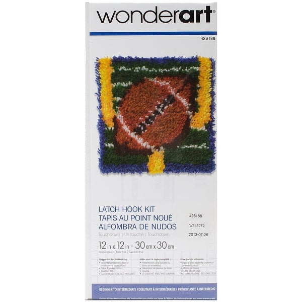 "Wonderart Latch Hook Kit 12""X12""-Touchdown"