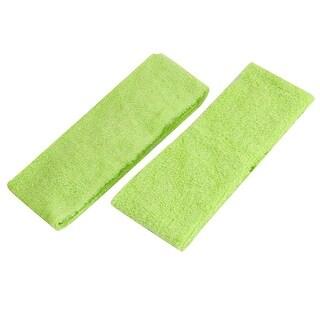 Ladies Hairstyle Shower Elastic Headband Hair Band Light Green 2pcs