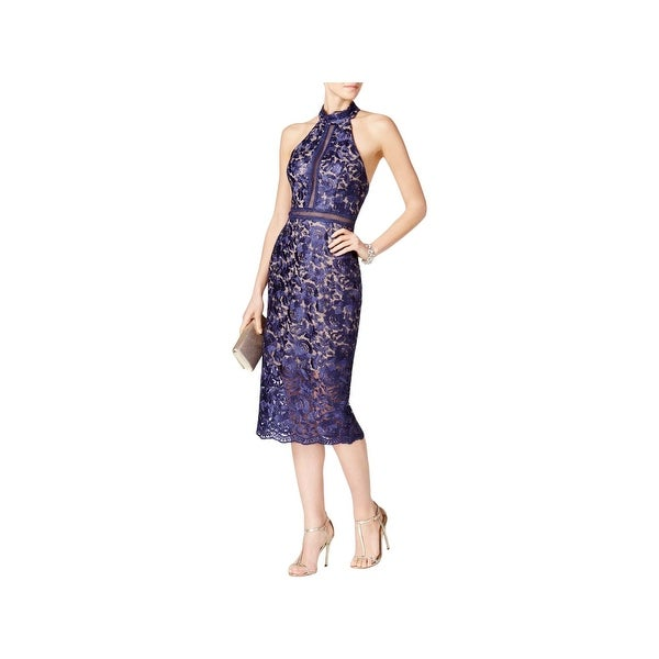 2db75fb4893e Shop Xscape Womens Cocktail Dress Lace Halter - On Sale - Free Shipping On  Orders Over $45 - Overstock - 22750991
