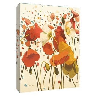 """PTM Images 9-154125  PTM Canvas Collection 10"""" x 8"""" - """"Coral Confetti"""" Giclee Flowers Art Print on Canvas"""