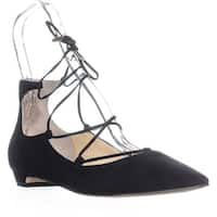 Sigerson Morrison Wynne Lace Up Wedge Pumps, Black Suede