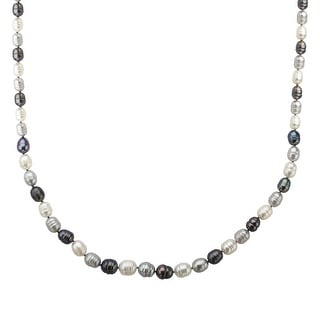 5-9 mm Multi-Color Grey Freshwater Pearl Necklace