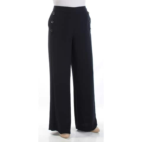 DKNY Womens Navy Wear To Work Pants Size: 4