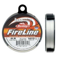 FireLine Braided Beading Thread, 4lb Test and 0.005 Thick, 50 Yards, Crystal Clear