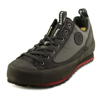 Hanwag Rotpunkt Men  Round Toe Leather Black Hiking Shoe