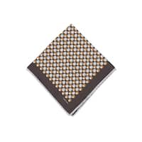 Tom Ford Dark Brown Double Circle Silk Pocket Square - One size