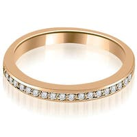 0.20 cttw. 14K Rose Gold Prong Set Round Diamond Wedding Band