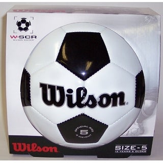 Wilson Black and White Soccer Ball