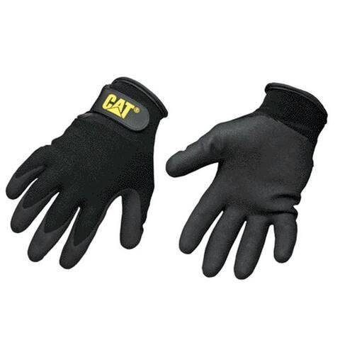 CAT CAT017414J Nylon Coated String Knit Gloves, Black, Jumbo
