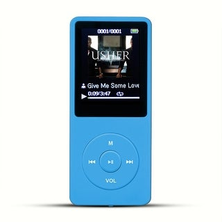 AGPtEK 2017 Latest Version 8GB 70 Hours Playback MP3 Lossless Sound Music Player Supports up to 64GB Color Blue