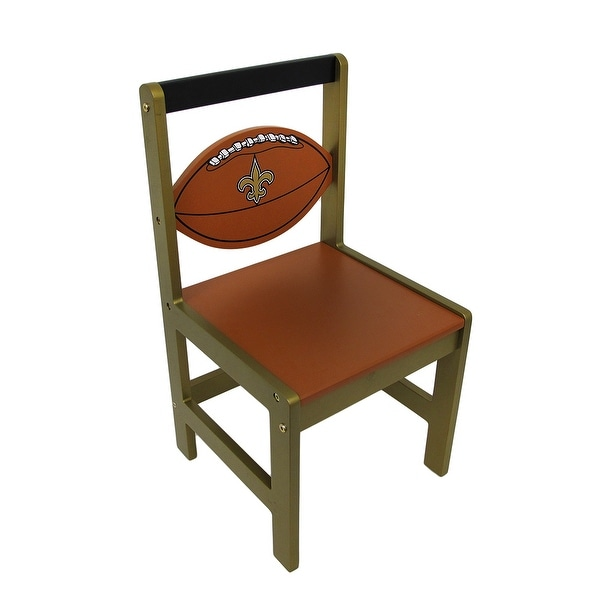 New Orleans Saints Wooden NFL Team Kids Chair   Multicolored   23 X 12 X 12