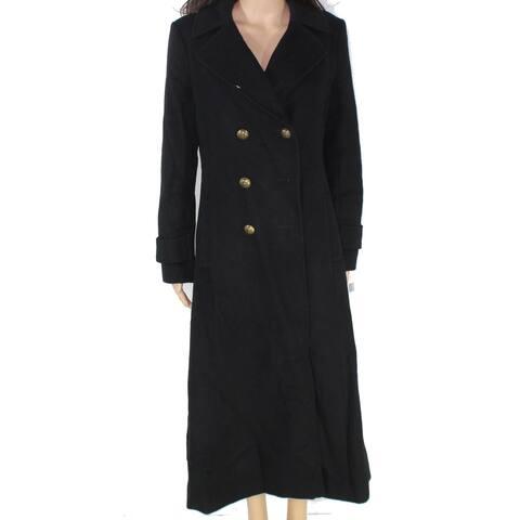 Lauren by Ralph Lauren Women's Black Size 8 Double Breast Wool Coat
