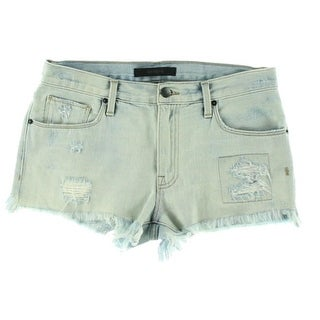 Genetic Womens Denim Light Wash Cutoff Shorts - 26