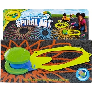 - Crayola Washable Sidewalk Chalk Spiral Art Kit
