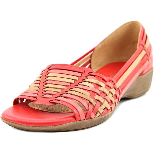 Naturalizer Nerissa Women WW Open Toe Leather  Wedge Sandal