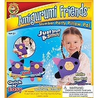 Lion Brand Amigurumi Friends Pillow Pal Kit, Katie The Cat