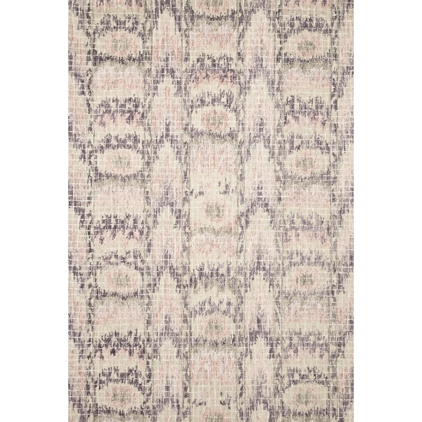 Alexander Home Nile Mosaic Ikat 100% Wool Hand Hooked Rug. Opens flyout.