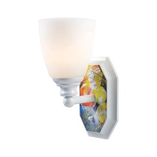 Landmark Lighting 60090-1 Kids / Youth 1 Light Up Lighting Wall Sconce with Solar System Design from the Kidshine Collection