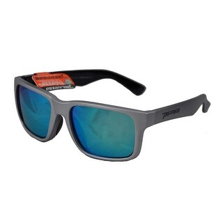 Peppers Polarized Sunglasses Beachcomber Matte Silver Polarized Blue Mirror Lens