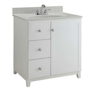 "Design House 547158 36"" Freestanding Single Vanity Cabinet Only - White"
