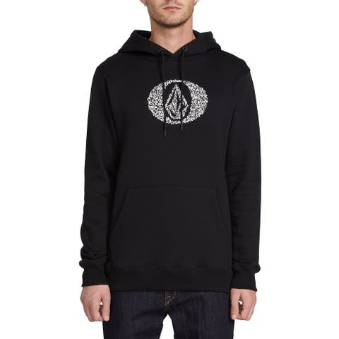 Volcom Mens Sweater Black Size XL Hooded Supply Stone Graphic Pullover