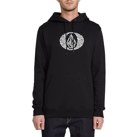 Volcom Mens Sweater White Black Size Large L Hood Supply Stone Pullover