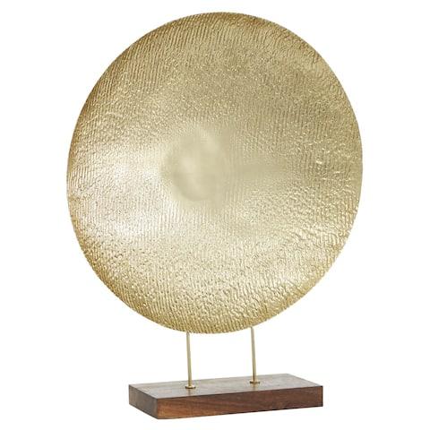 "Metal Gold Platter Display, 22"" X 27"" - 22 x 6 x 27Round"