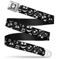 Jack Expression9 Full Color Nightmare Before Christmas Jack Outline Seatbelt Belt