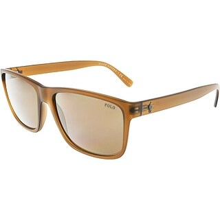 Ralph Lauren Men's PH4113-560273-57 Brown Rectangle Sunglasses