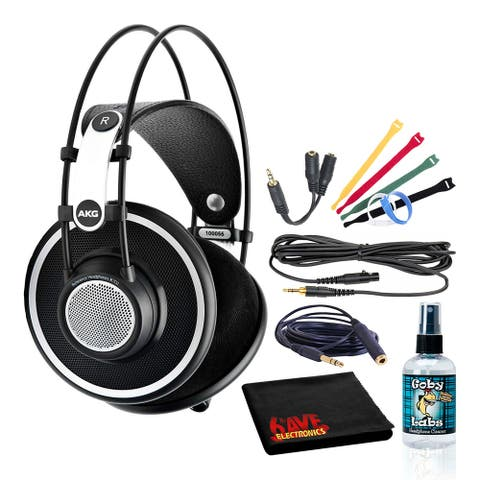AKG K702 Reference Studio Headphones Bundle with Extension Cable +