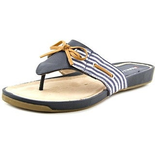 Rialto Candid Women Open Toe Canvas Blue Thong Sandal