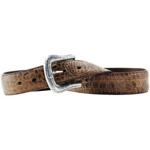 Ariat Western Belt Mens Leather Perforated Adobe Clay - Adobe Clay