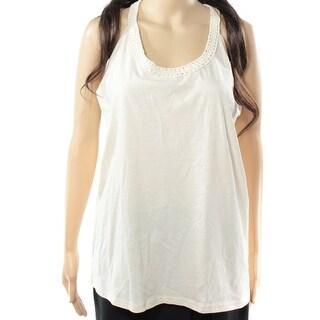 Lauren Ralph Lauren NEW White Ivory Women's Medium M Macrame Tank Top