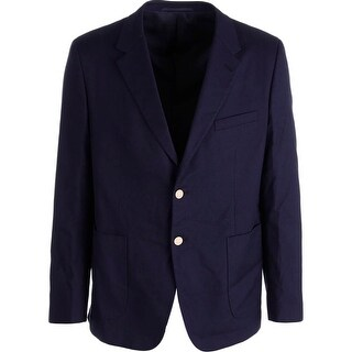 Prada Mens Trim Fit Textured Two-Button Blazer - 44R
