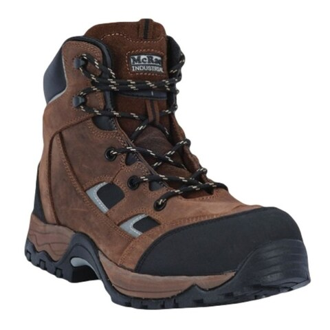 """McRae Industrial Work Boots Mens 6"""" CT Lace Up Crazy Horse"""