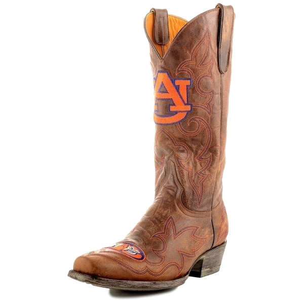 Gameday Boots Mens Leather College Team Auburn Tigers Brass