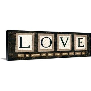 """Love"" Canvas Wall Art"