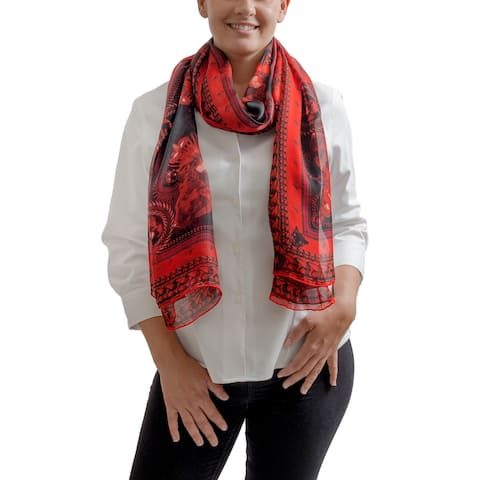 Givenchy GW7020 SE039 1 Red Scarf - 27.5-78.5