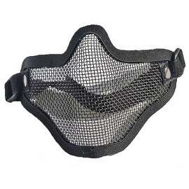 army fan outdoor protection untensil half-face wire protector field operation protection mask sports mask full black