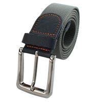 Unisex Outdoor Casual Nylon Adjustable Canvas Web Waist Belt Gray