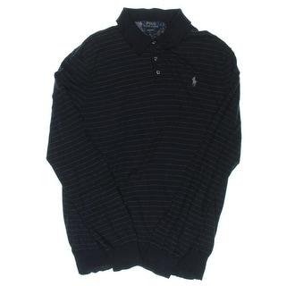 Polo Ralph Lauren Mens Henley Shirt Signature Pinstripe - L