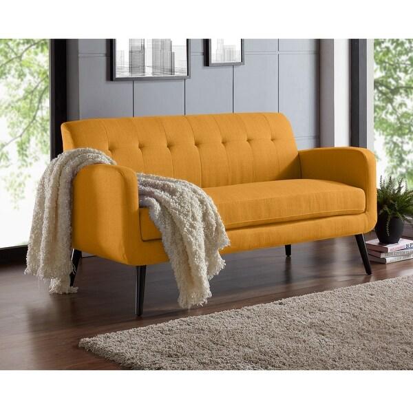 Carson Carrington Tjaereborg Mid-century Modern Linen Sofa. Opens flyout.