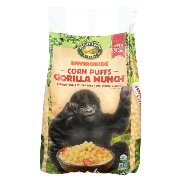 Envirokidz Corn Puff - Gorilla Munch - Case of 6 - 23 oz.