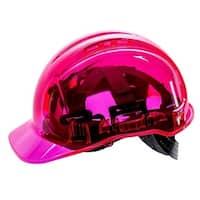 Portwest PV64PIR Peak View Ratchet Translucent Hard Hat, Pink