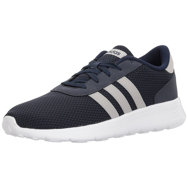 reputable site f5919 e3843 Adidas Mens Lite Racer Fabric Low Top Lace Up Running Sneaker