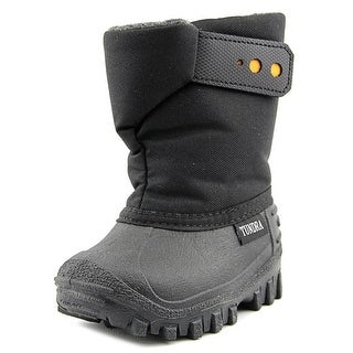 Tundra Teddy 4 Youth Round Toe Synthetic Black Snow Boot