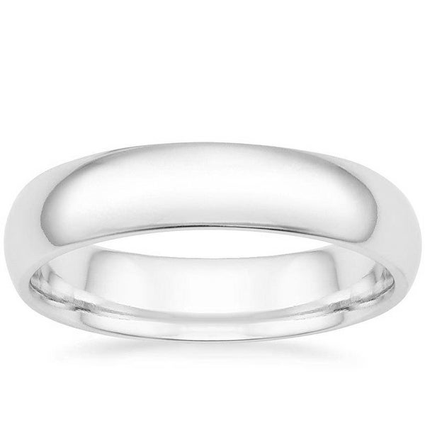 Mcs Jewelry Inc 14 KARAT WHITE GOLD COMFORT FIT WEDDING BAND (6MM)