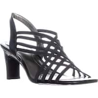 Bandolino Ole Heeled Sling Back Sandals, Black Multi