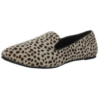 Bootsi Tootsi Womens Leopard Smoking Shimmer Animal Print Smoking Loafers
