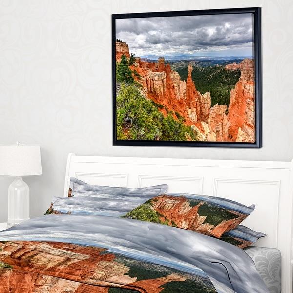 Designart 'Bryce Canyon National Park' Landscape Framed Canvas Art Print. Opens flyout.